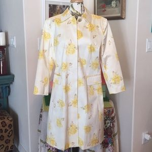 Banana Republic Yellow Rose Spring Coat